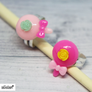 Ring Lolly mit Rose